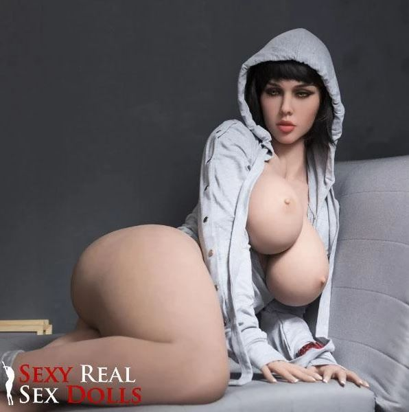 Best curvy sex doll posing on her side on the couch