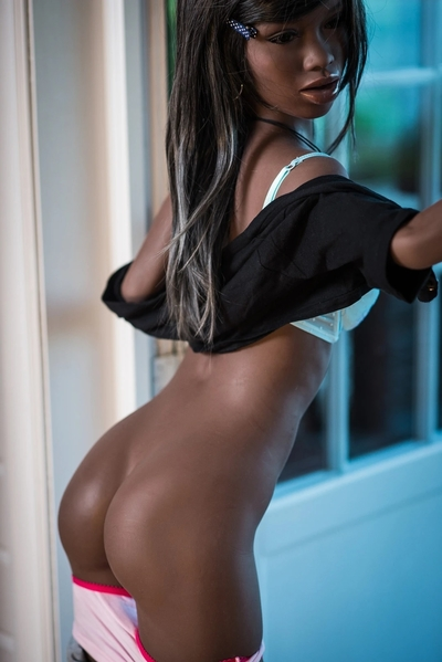black sex doll showing her butt